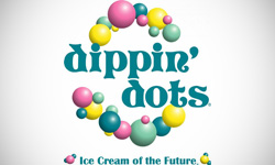Dippin Dots Ice Cream Shop Logo Design