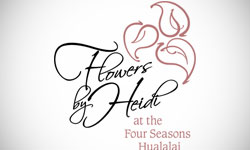 Flowers by Heidi Logo Design