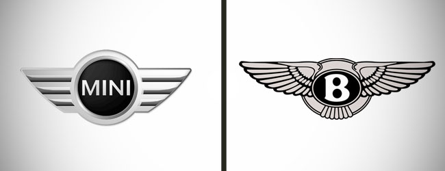 Mini and Bentley Logo Before and After