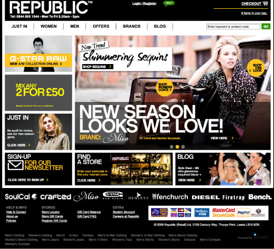 Republic.co.uk Men's and Women's Clothing Website