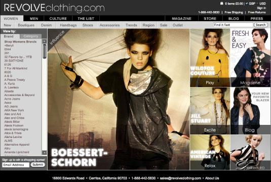 RevolveClothing.com Website and Online Boutique