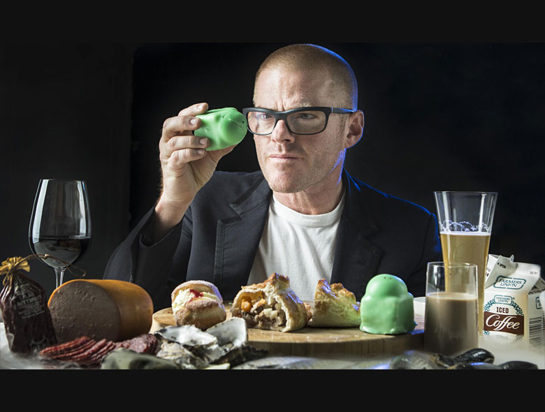 Heston Blumenthol with his chemistry set!