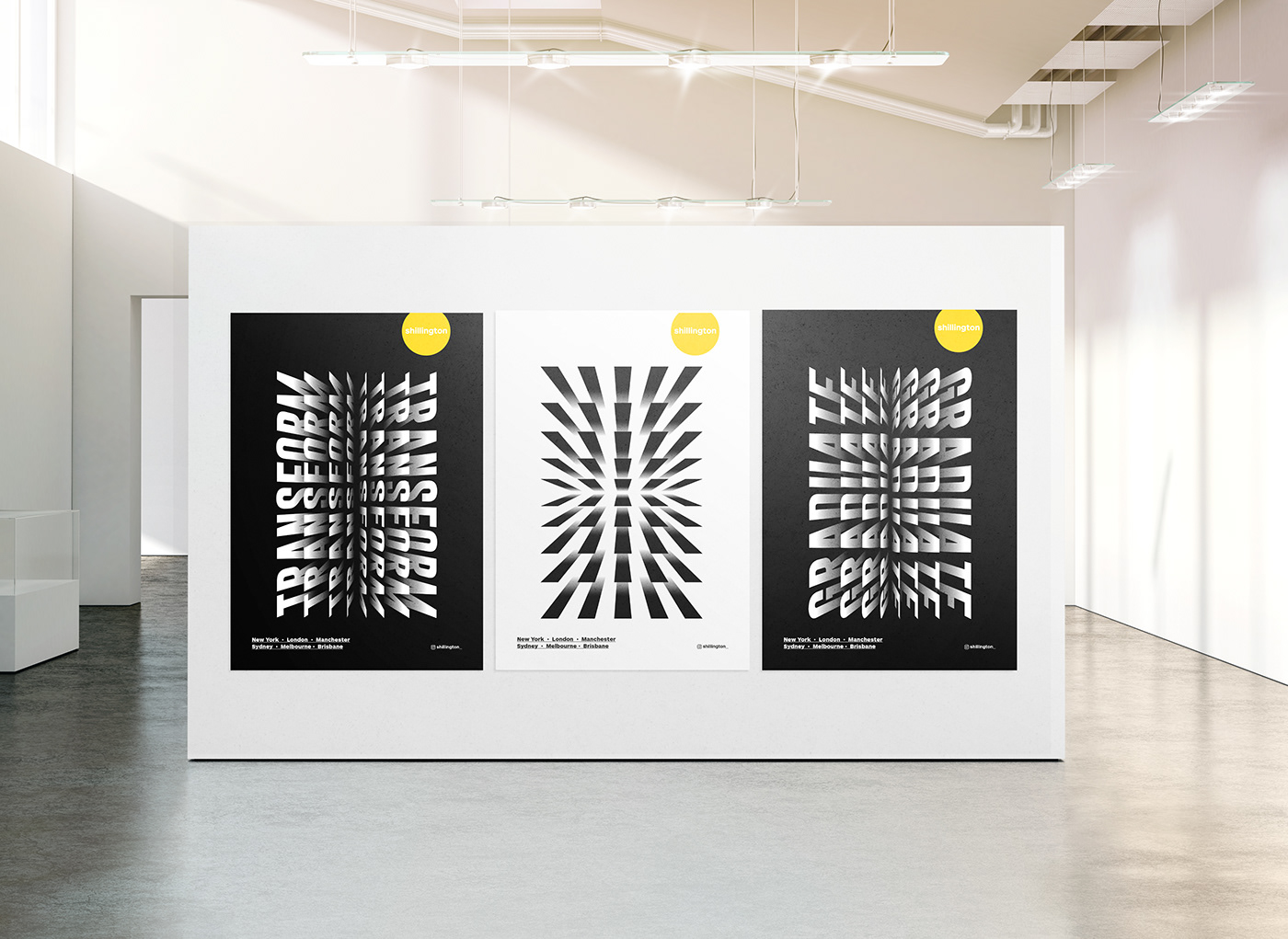 Poster Design in a gallery
