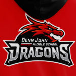 Denn John Middle School Logo Dragon Mascot