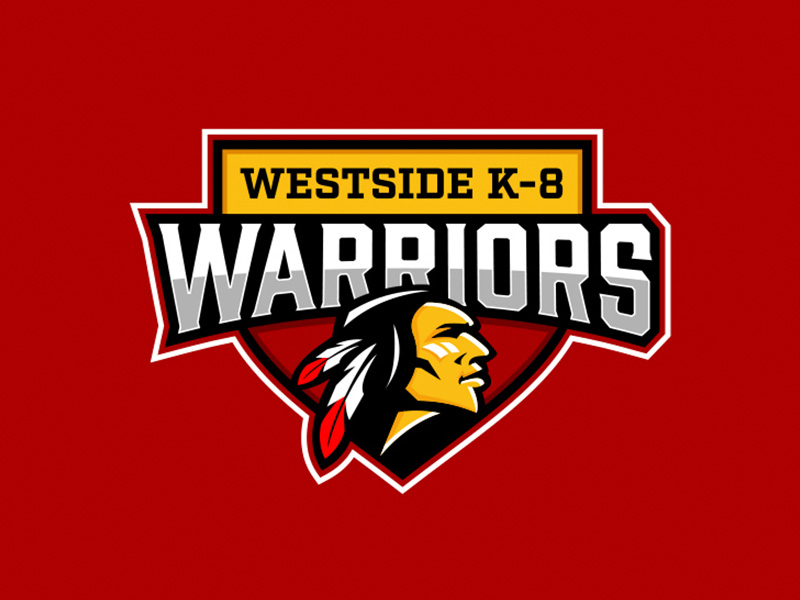 westside warriors k-8 school logo